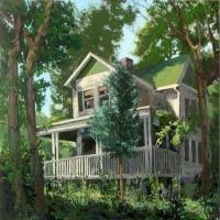 Campbell Street Kansas City 24X22 acrylic on canvas 2014