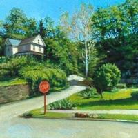 Top of High Street Elkins oil on canvas 2003