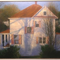 March Shadows Elkins oil on canvas 2003
