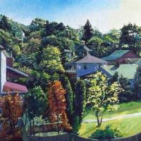 Harmon Lane oil on canvas 18X24 2002
