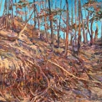 Dry Winter in Franlkin County 12x32 acrylic on canvas 2012 2013