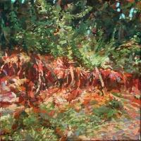 Erosion Landscape I 12x12 acrylic on canvas 2012