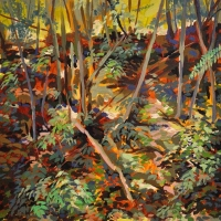 Franklin-County-Lanscape 12x12 acrylic on cradeled hard board 2011