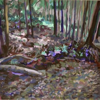 National Forest 12x12 acrylic on cradeled hard board 2011