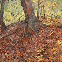 Appalachian Fall Franklin County Acrylic on canvas 36x48 2011