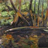 A Lucky Escape Randolph County Acrylic on canvas 2011