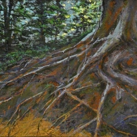 July Roots acrylic on canvas 2010