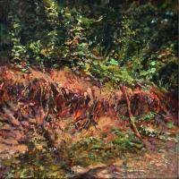 Erosion Landscape 2nd 12x12 acrylic on canvas 2014