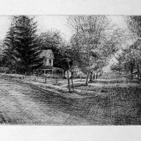 Little Village etching 2003